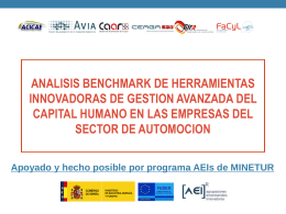 PRESENTACION BENCHMARKING CAPITAL HUMANO