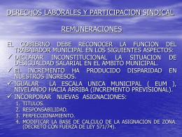 DERECHOS LABORALES Y PARTICIPACION SINDICAL
