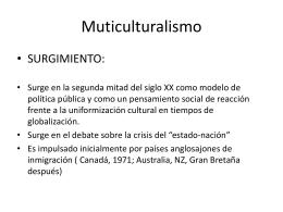 Multiculturalismo, interculturalidad, plurinacionalidad y