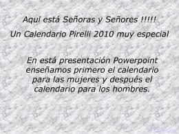 Calendario Sexi para el 2010.