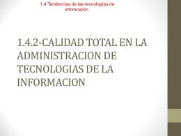 CALIDAD TOTAL EN LA ADMIN. DE TECNOLOGIAS DE LA …