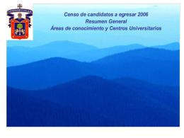 Censo de candidatos a egresar 2006 Total de censados