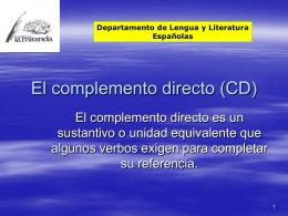 El complemento directo (CD)