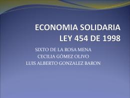 ECONOMIA SOLIDARIA Instituciones de Apoyo Directo