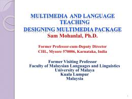 Dr. SAM MOHAN LAL Formar Professor cum Deputy …