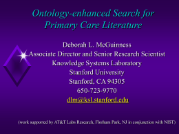 Ontology-enhanced Search for Primary Care Literature