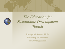 What is the Role of Education in Sustainable Development?