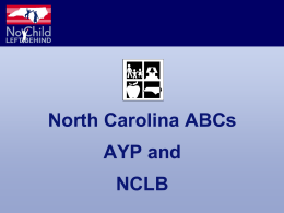 No Child Left Behind - University of North Carolina …
