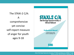 STAXI-2 C/A Overview