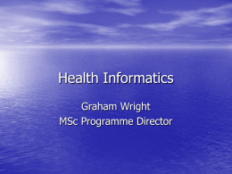 Health Informatics - Amirkabir University of Technology
