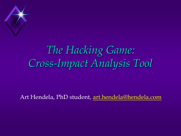 The Hacking Game: Cross