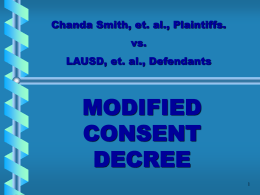 Chanda Smith, et. al. Plaintiffs. vs. LAUSD, et. al