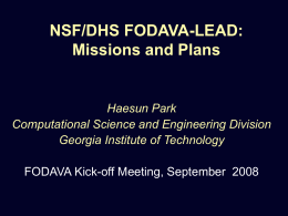 FODAVA Education and Outreach Activities