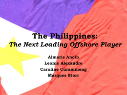 The Philippines: The Next Leading Offshore Player