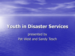 Youth in Disaster Services