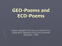 GEOPoems and ECOPoems