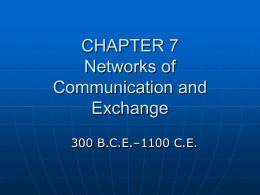 CHAPTER 8 Networks of Communication and Exchange
