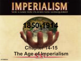 CHAPTER 27 - The Age of Imperialism