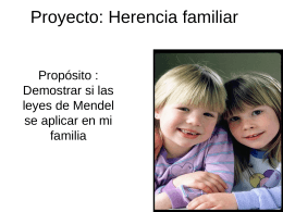 Proyecto: Herencia familiar
