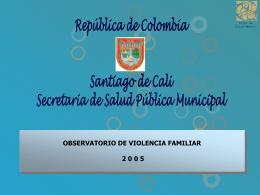 OBSERVATORIO DE VIOLENCIA FAMILIAR CALI 2005