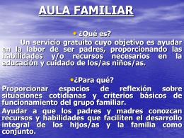 AULA FAMILIAR