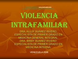 Monografias : Violencia intrafamiliar