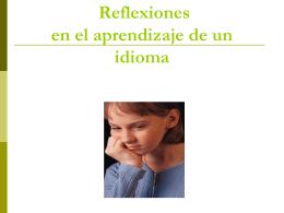 TALLER DE REFLEXIONES