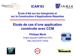 Etude de cas d'une application CCM