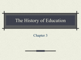 The History of Education - University of Minnesota Duluth