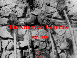 The Armenian Genocide - Pasadena City College