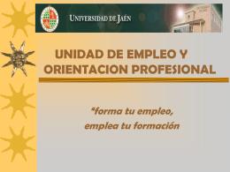 UNIDAD DE EMPLEO Y ORIENTACION PROFESIONAL