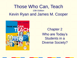 Those Who Can, Teach 10th Edition Kevin Ryan and …
