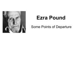 Ezra Pound - Longwood University