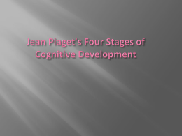 Theory of Cognitive Development by Jean Piaget