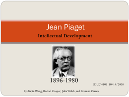 Jean Piaget - Nipissing University Word