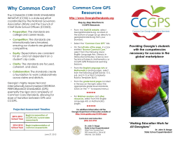 CCGPS Brochure - Georgia Department of Education