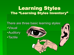 Learning Styles - South Texas College