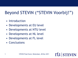 The Dutch-Flemish HLT Programme STEVIN: Essential …