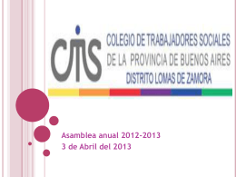 Colegio de Asistentes y/o Trabajadores Sociales de Lomas