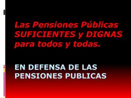 EN DEFENSA DE LAS PENSIONES PUBLICAS