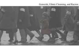Genocide and Ethnic Cleansing - Virtual Classroom