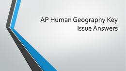 AP Human Geography Key Issue Answers