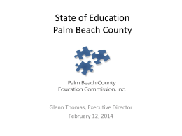 State of Education 2013: Palm Beach County