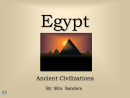 Ancient Egypt - Powerpoint Presentations for teachers