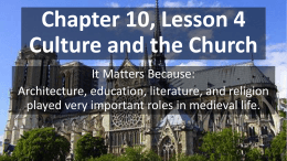 Chapter 10, Lesson 4 Culture and the Church