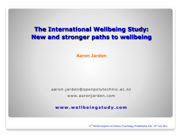 Global Report on Wellbeing