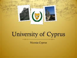 University of Cyprus - Kansas State University