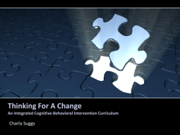 Thinking For A Change An Integrated Cognitive …