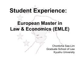 European Master in Law and Economics (EMLE)