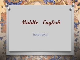Middle English - Universiti Putra Malaysia